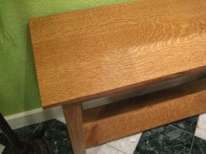 "Quartersawn White Oak ""Mission"" Sofa Table"