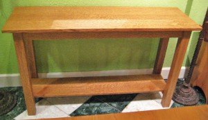 "Quartersawn White Oak ""Mission"" Sofa Table"