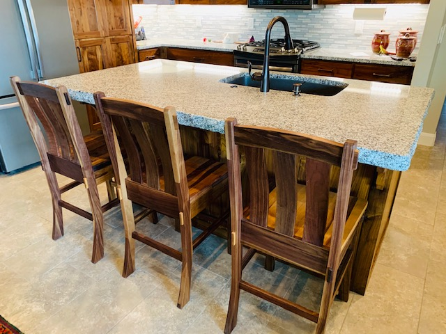 "Solid Walnut ""Craftsman"" Stools"