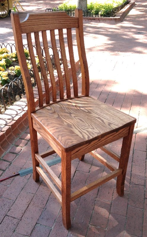 """Solid White Oak (Stained) """"Mission"""" Stool - 30"""""""