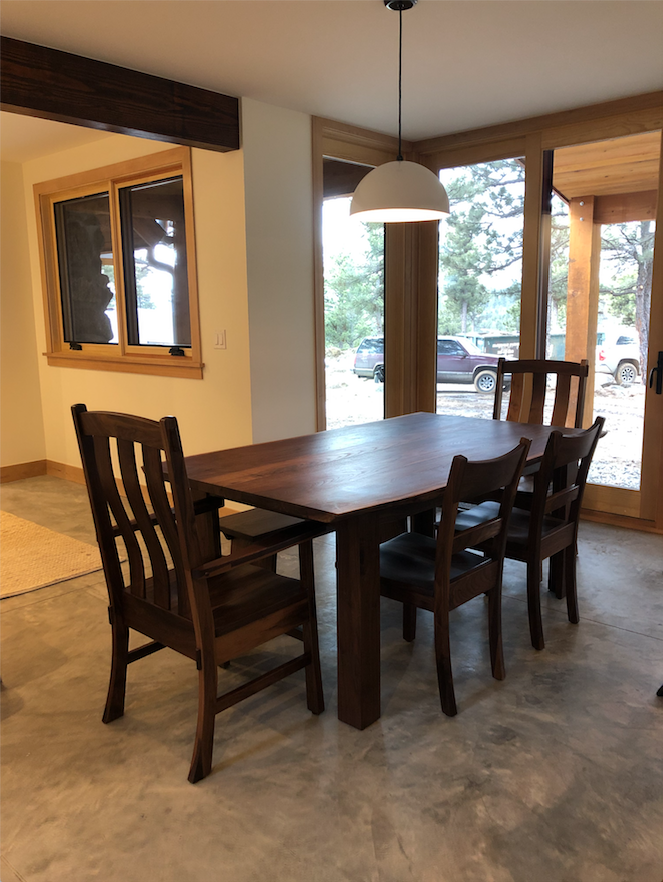 "Solid Walnut ""Canyon"" & ""Craftsman"" Chairs"