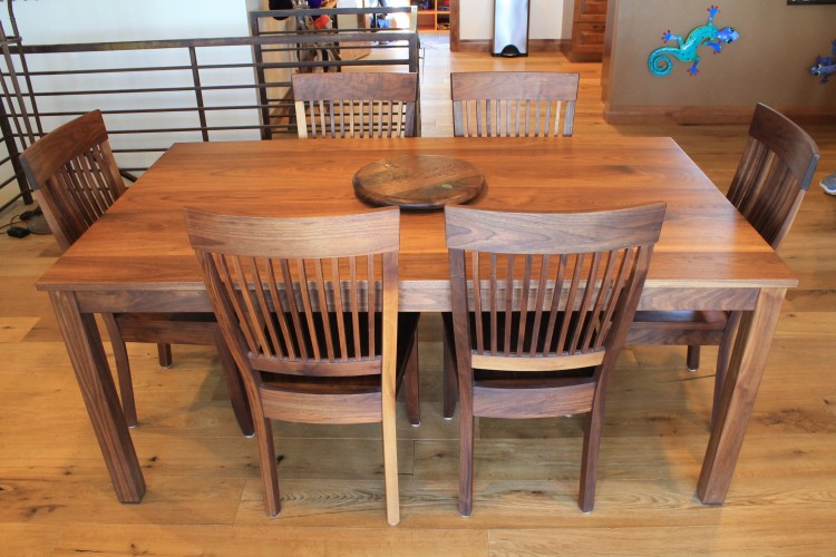 "Solid Walnut ""Whittier"" Chairs"