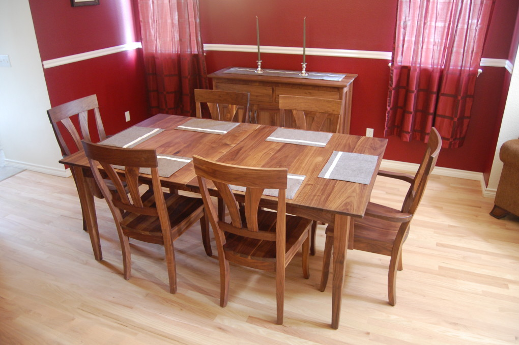"Solid Walnut ""Mapleton"" Chairs"