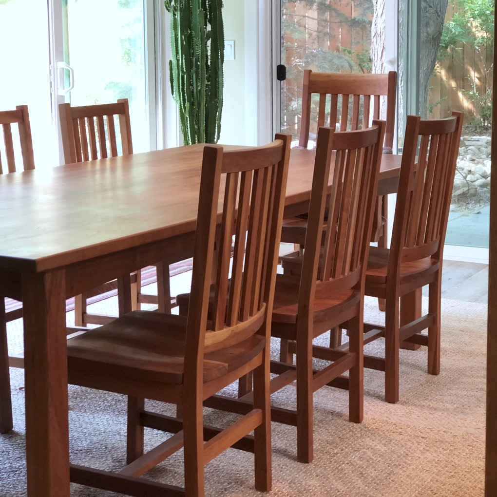 "Solid Cherry ""Schoolhouse"" and ""Mission"" Chairs"