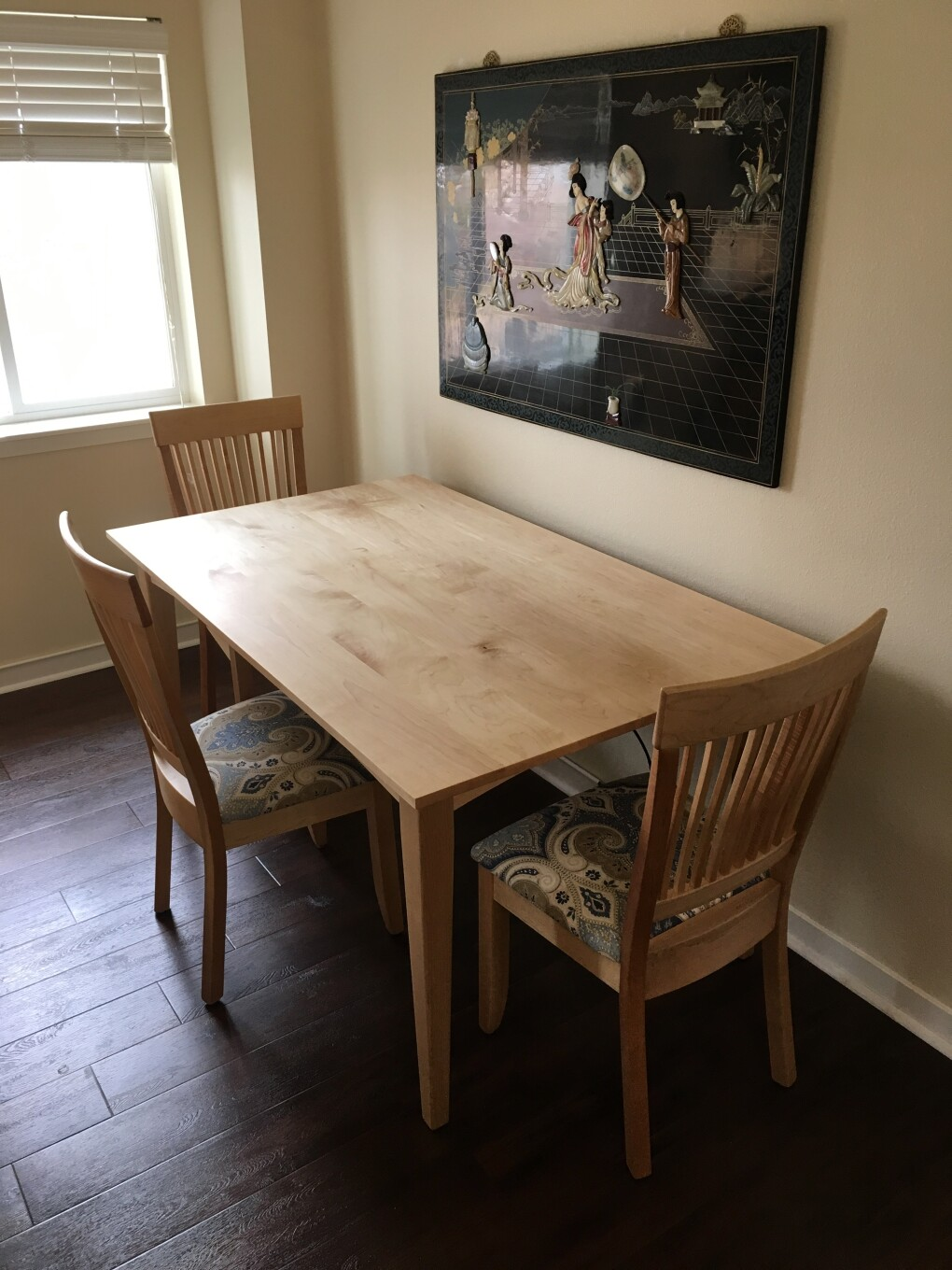 "Solid Maple ""Whittier"" Chairs with Upholstery"