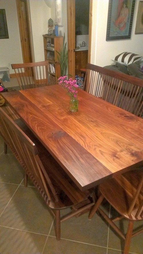 "Solid Walnut ""Combback"" Benches - 74"""