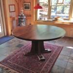 "Solid Walnut ""Craftsman"" Pedestal Table"