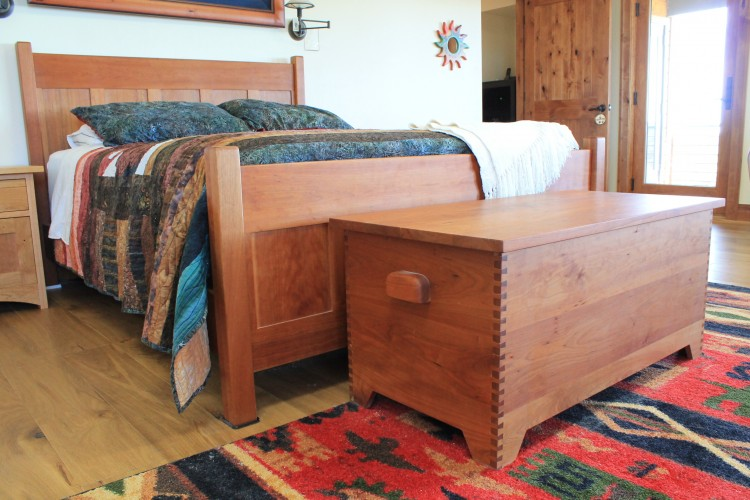 """Solid Cherry """"Prairie"""" Dovetailed Trunk"""