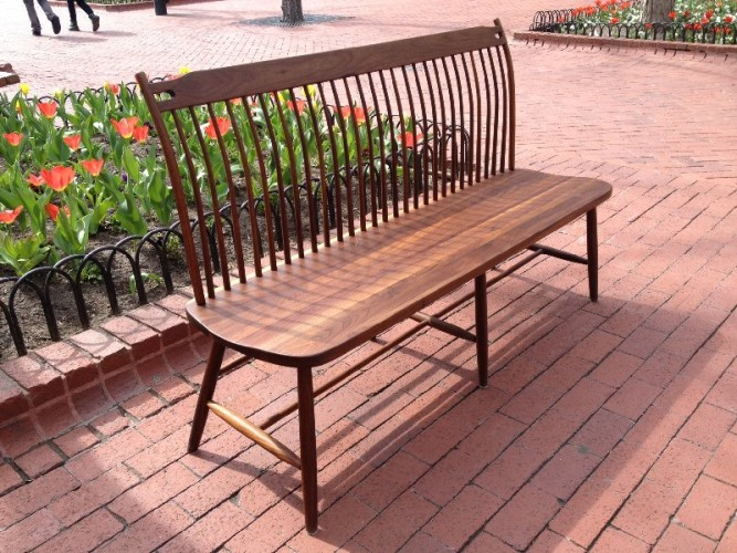 "Solid Walnut ""Lansing"" Bench - 60"""