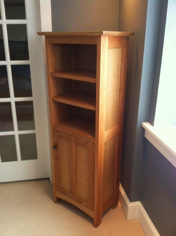 "Cherry ""Prairie"" Tall Corner Cabinet"