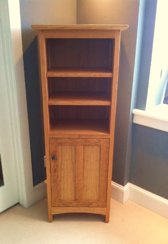 Cherry Prairie Tall Corner Cabinet Boulder Furniture Arts