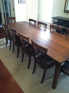 "Solid Walnut ""LaCroix"" Chairs"