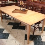 """Solid Maple """"Shaker"""" Boat-shape Table"""