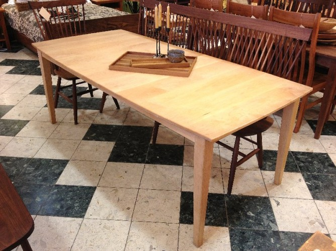 "Solid Maple ""Shaker"" Boat-Shape Table with Leaf"