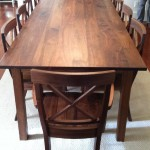 """Solid Walnut """"Mission"""" Dining Table"""