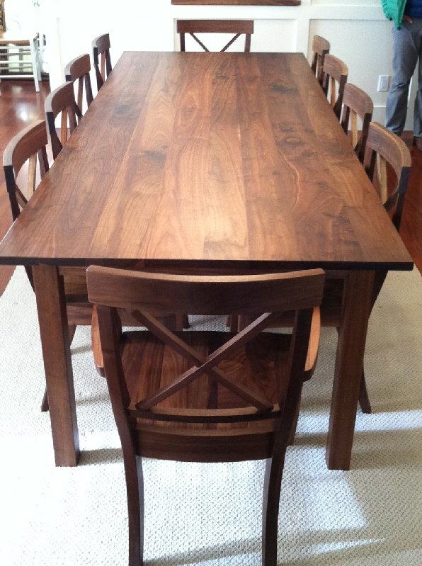 Solid Walnut Mission Table