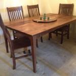 "Custom Solid Walnut ""Prairie"" Dining Table"