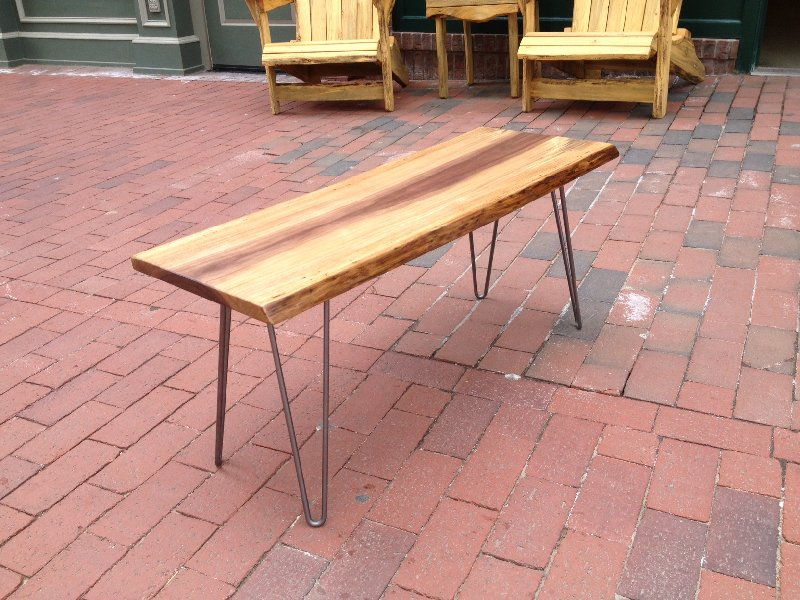 LiveEdge Walnut Table/Bench