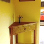 Custom Solid Cherry Corner Table