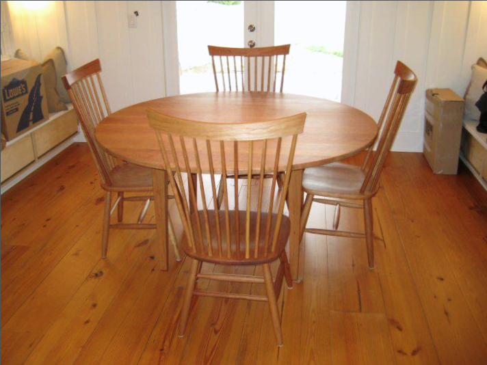 "Solid Cherry ""Combback"" Chairs"