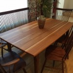 """Solid Hickory """"Prairie"""" Boat-Shape Table"""