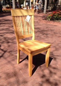 """Solid Hickory """"Hearthside"""" Chair"""
