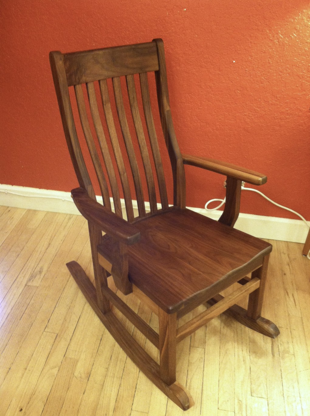 "Solid Walnut ""Mission"" Rocker"