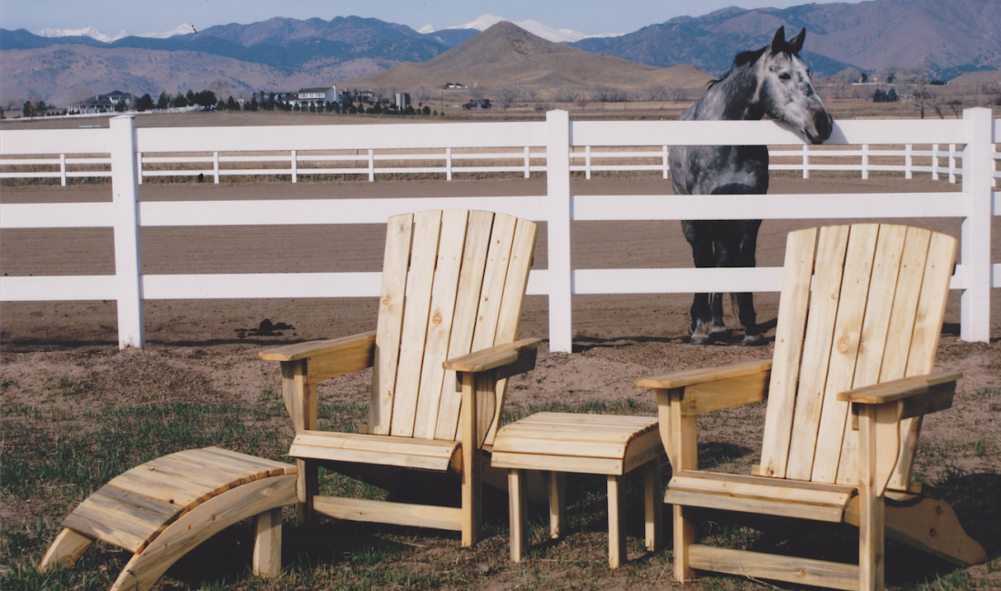 Adirondack Set Outdoor Horse
