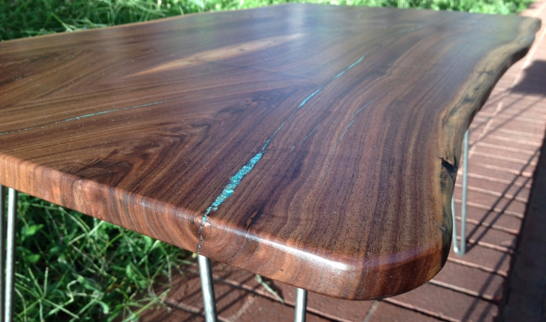 Coffee LiveEdge Walnut Turq Hairpin 3
