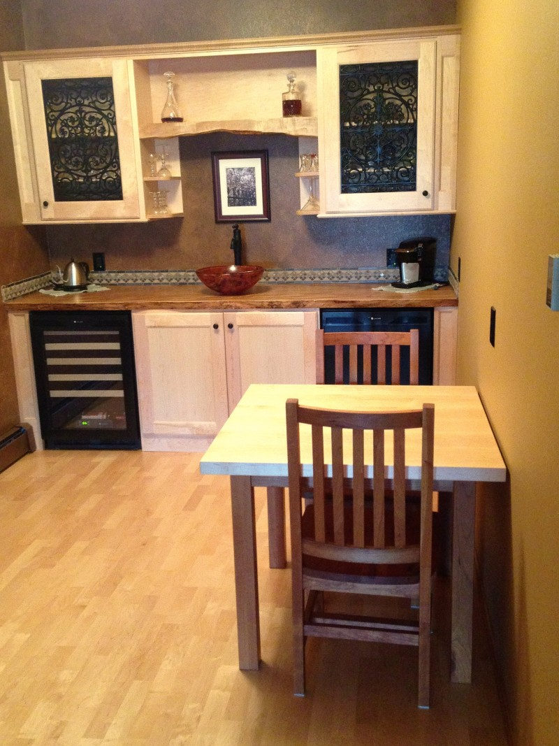 """Solid Rustic Cherry """"Schoolhouse"""" Chairs"""