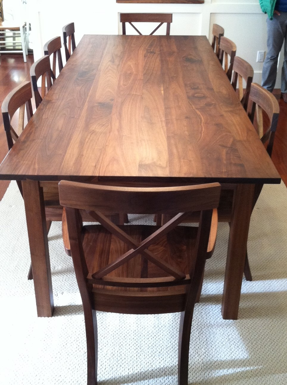 Table Mission Walnut 42x110 LaCroix Set