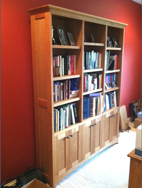 "Cherry ""Prairie"" Bookcase with Doors"