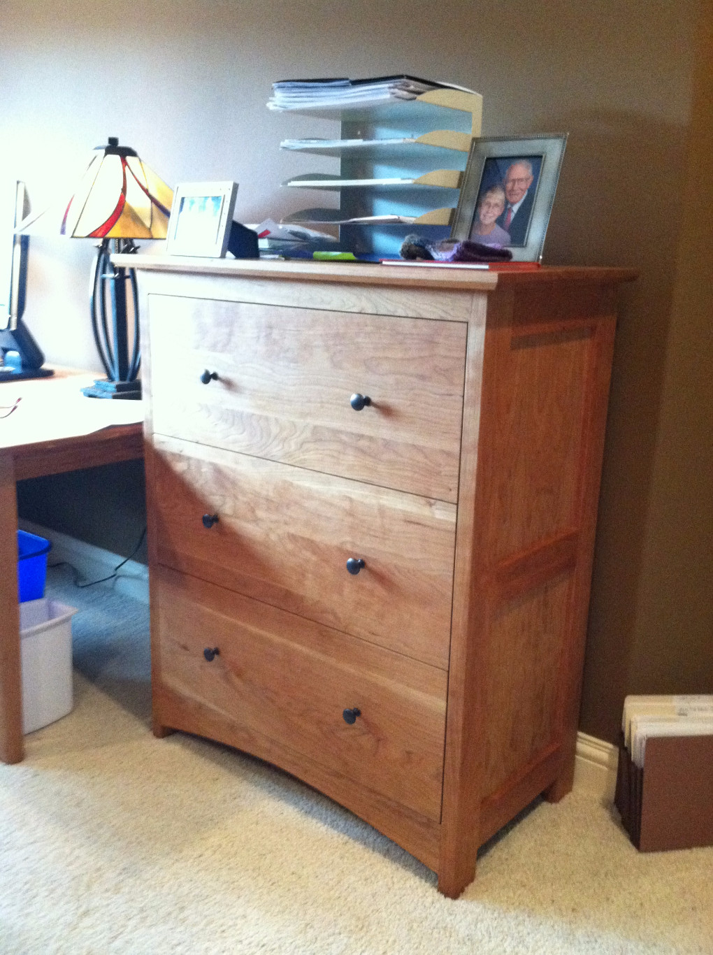 "Cherry ""Prairie"" 3-Drawer Lateral File Cabinet"