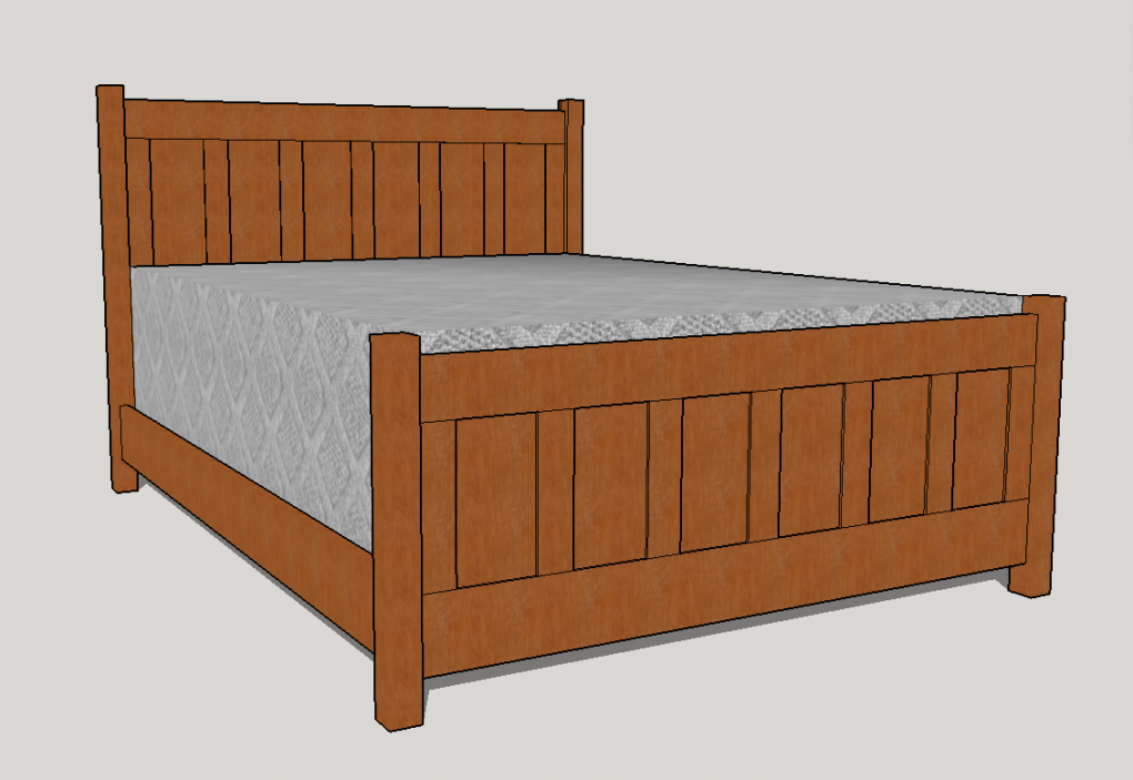 The craftsman bed boulder furniture arts for Craftsman bed