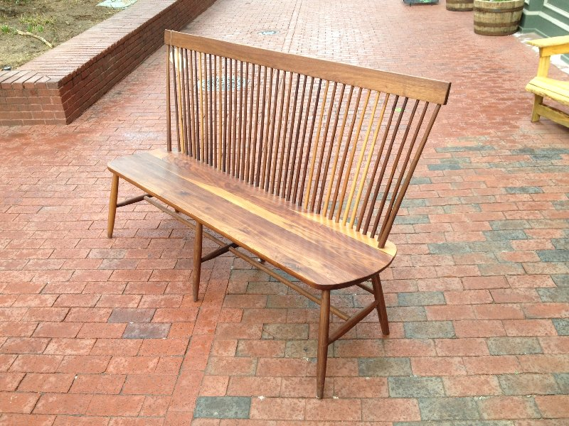 "Solid Walnut  ""Combback"" Bench"