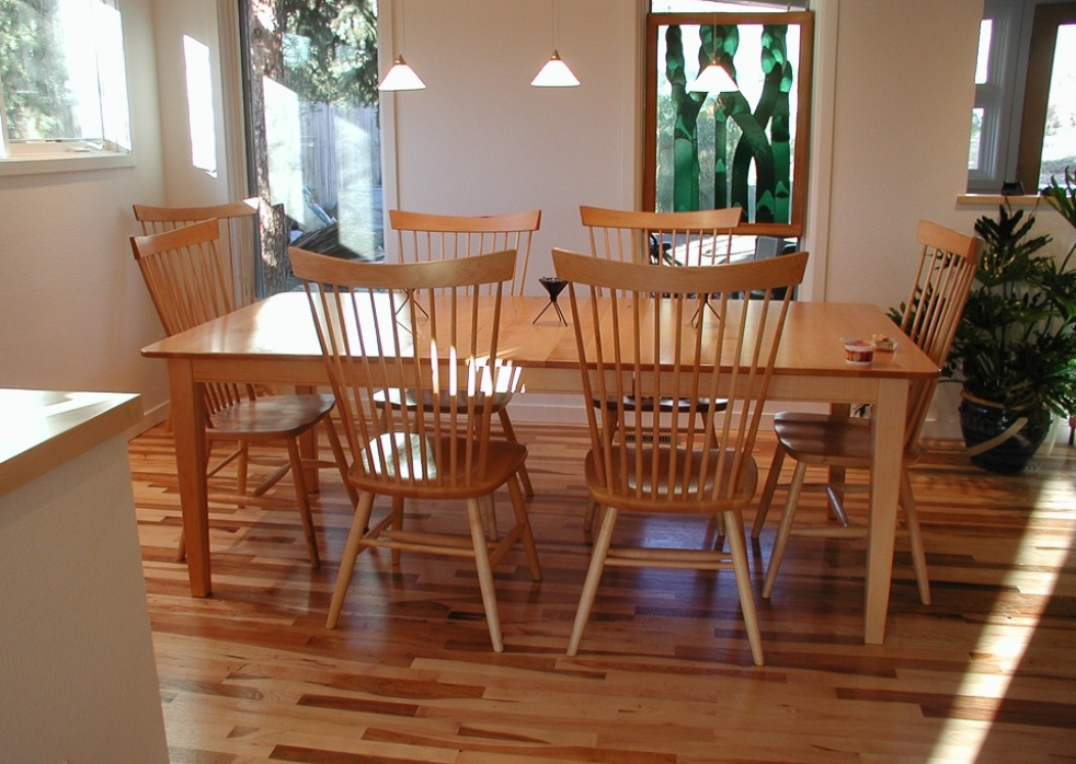 "Solid Maple ""Combback"" Chairs"