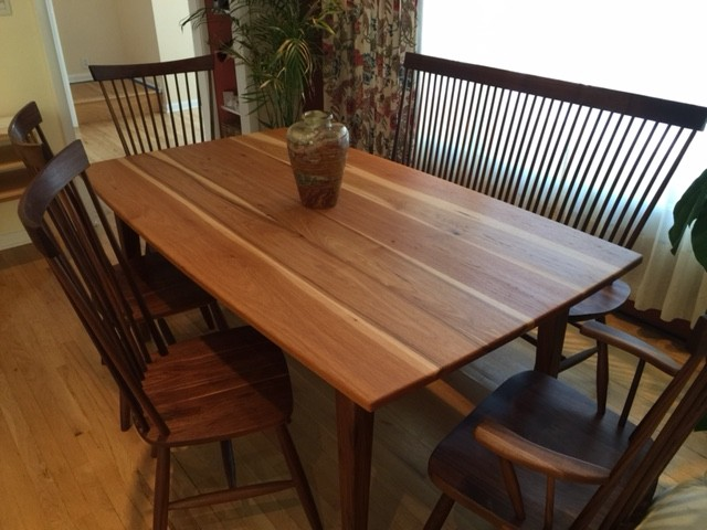 """Solid Walnut  """"Combback"""" Chairs & Benches"""