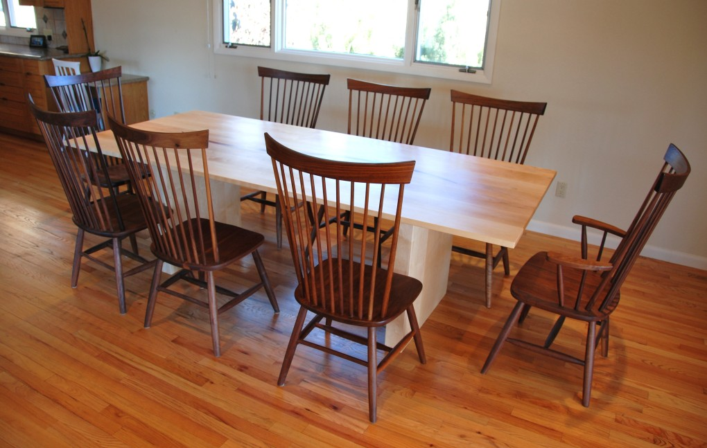 "Solid Walnut ""Combback"" Chairs"