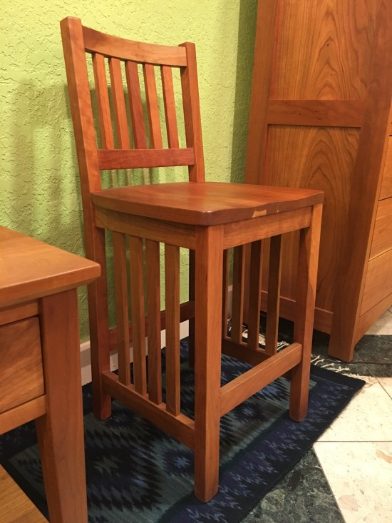 Solid Cherry Quot Lo Mission Quot Stool 30 Quot Boulder Furniture Arts