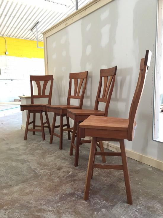 Solid Cherry Quot Mapleton Quot Stools Boulder Furniture Arts