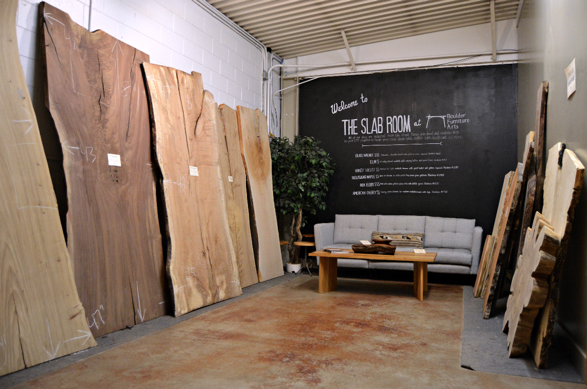 The Slab Room at Boulder Furniture Arts