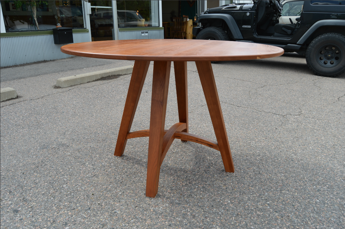 "Cherry ""Prairie"" Pedestal Table"