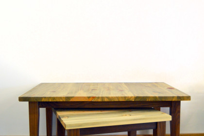 Solid Beetlekill + Walnut Table
