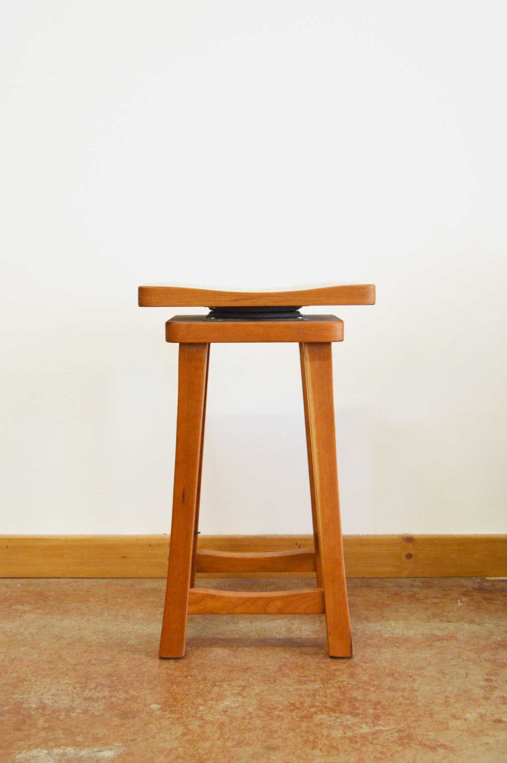 "Solid Cherry ""Lo Mission"" Backless Stool, Swivel -  270ea."