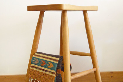 "Solid Maple ""Plain Mission"" Stool with Turned Leg - 250ea."