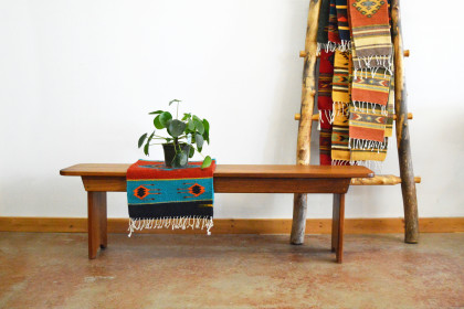 "Solid Walnut ""Shaker"" Backless Bench - 60"" -  650"